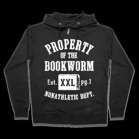 Bookworm Non Athletic Department Zip Hoodie