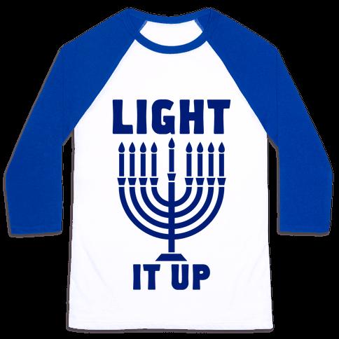 Light It Up Baseball Tee