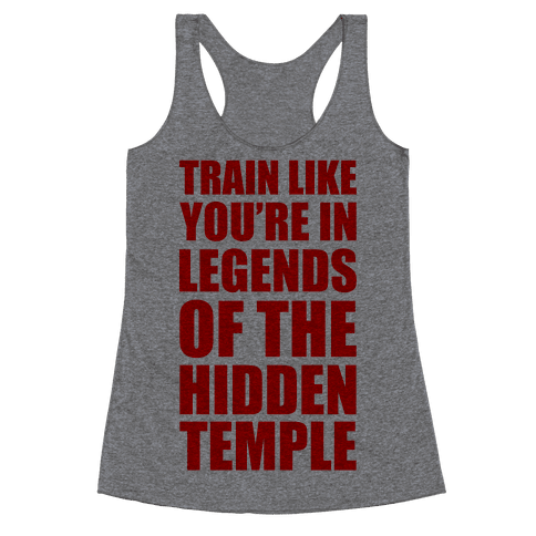 Train Like You're In Legends Of The Hidden Temple Racerback Tank Top