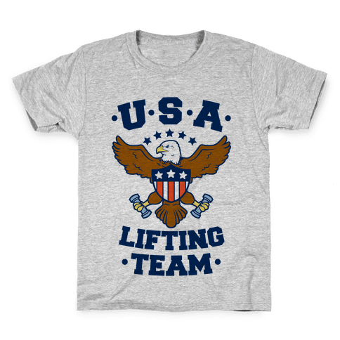 U.S.A. Lifting Team Kids T-Shirt