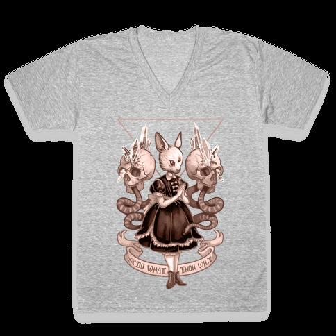 Do What Thou Wilt V-Neck Tee Shirt