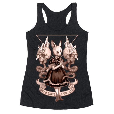 Do What Thou Wilt Racerback Tank Top