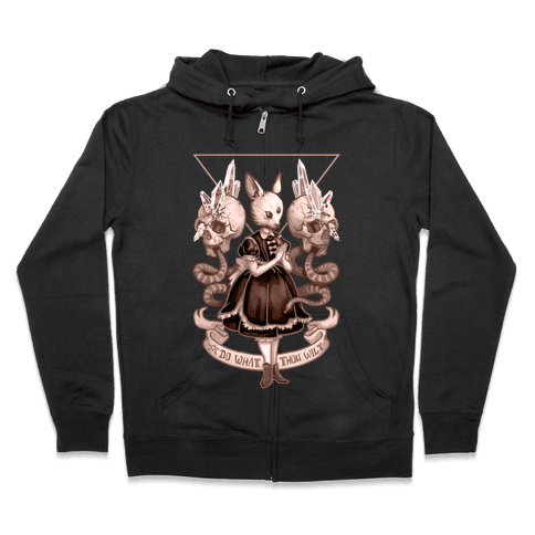 Do What Thou Wilt Zip Hoodie