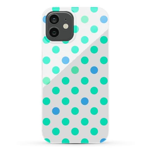 Mint Polka Dots Phone Case