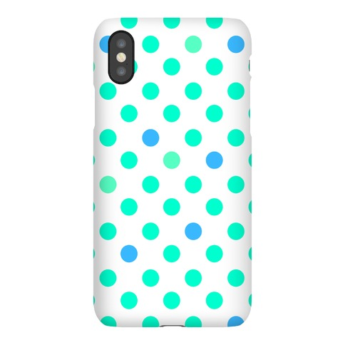 Mint Polka Dots Phone Case
