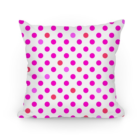 Small Polka Dot Pillow (pink) Pillow
