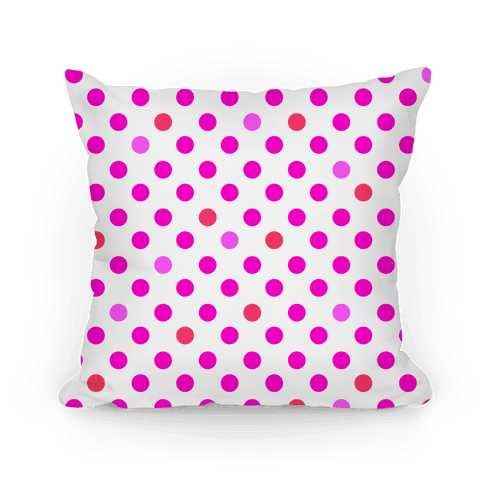 Small Polka Dot Pillow (pink)