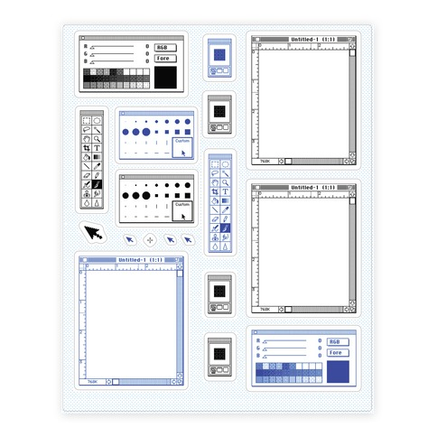 Photoshop Pixel Tools Sticker and Decal Sheet
