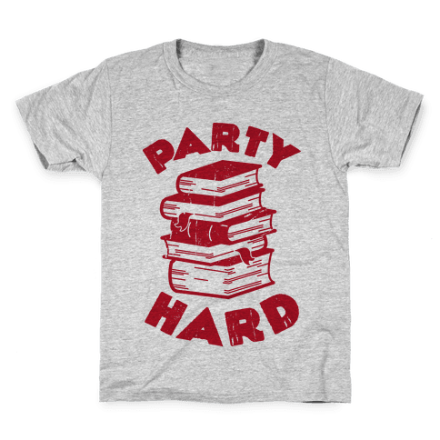 Party Hard (Books) Kids T-Shirt