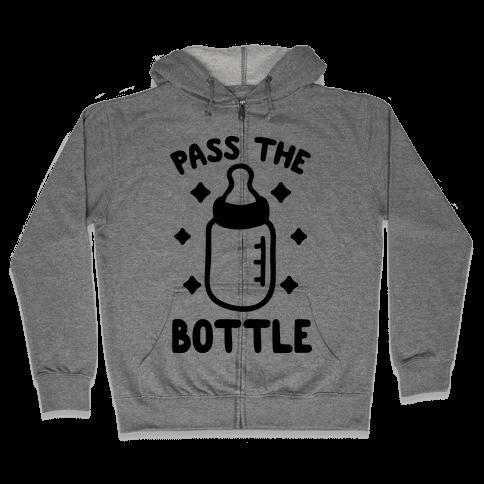 Pass The Bottle Zip Hoodie