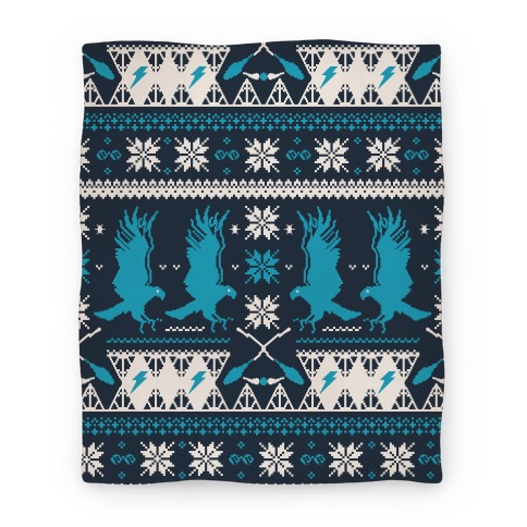 Hogwarts Ugly Christmas Sweater Pattern: Ravenclaw Blanket