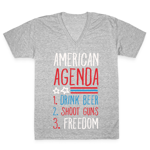 American Agenda V-Neck Tee Shirt
