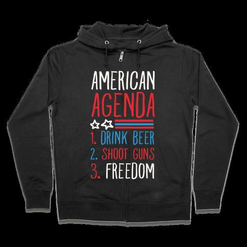 American Agenda Zip Hoodie