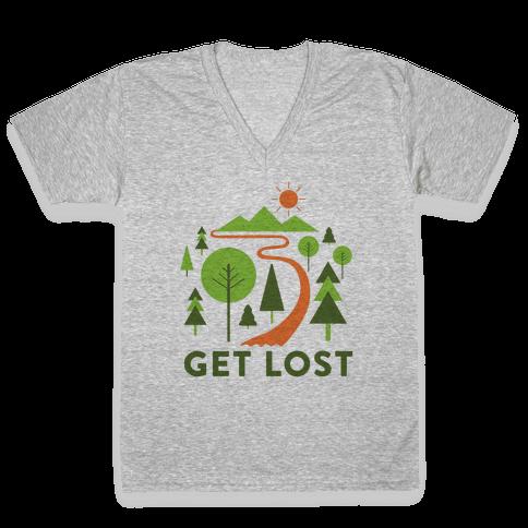 Get Lost V-Neck Tee Shirt