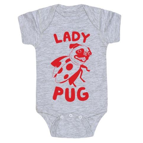 Lady Pug Baby Onesy