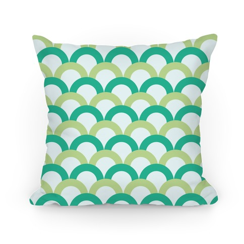 Green Scale Pattern Pillow