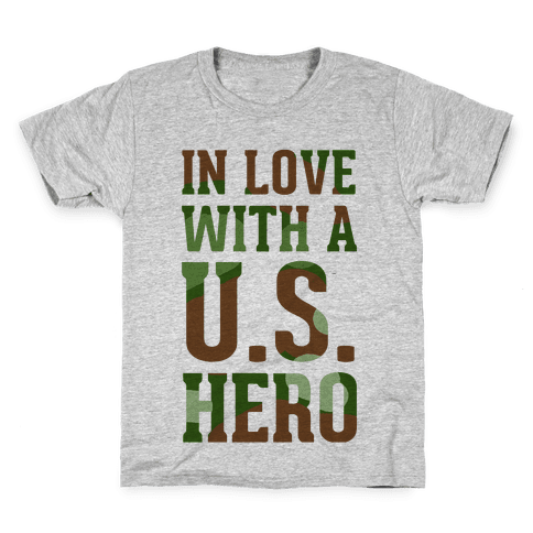 In Love With a U.S. Hero Kids T-Shirt