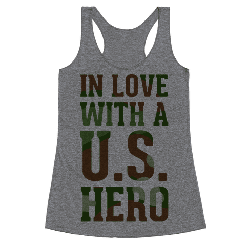 In Love With a U.S. Hero Racerback Tank Top