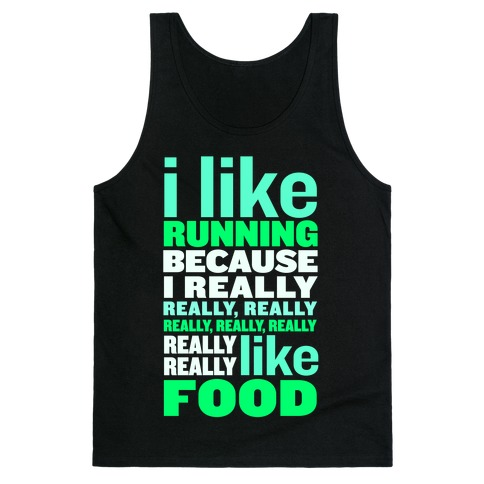 I Like Running (Food) Tank Top