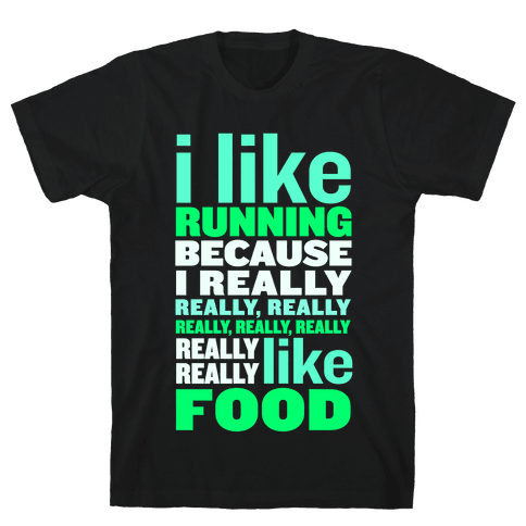 I Like Running (Food) Mens T-Shirt