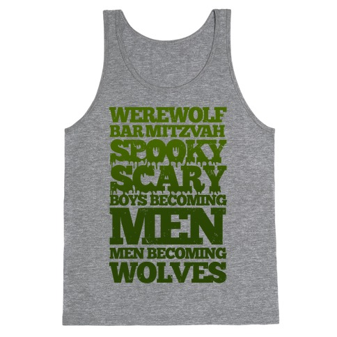 Werewolf Bar Mitzvah Tank Top