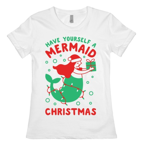 Do It Yourself Christmas Shirts.Have Yourself A Mermaid Christmas T Shirt Lookhuman