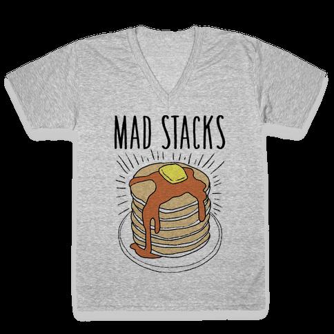 Mad Stacks V-Neck Tee Shirt