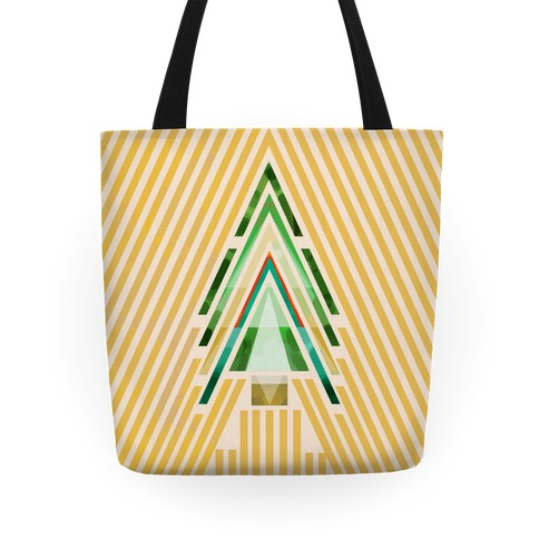 Geometric Summer Tree Tote