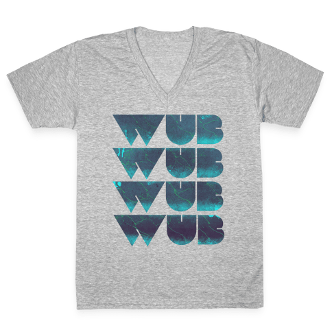 Wub Wub Wub (Dark) V-Neck Tee Shirt