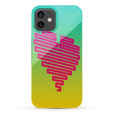 Neon Heart Phone Case