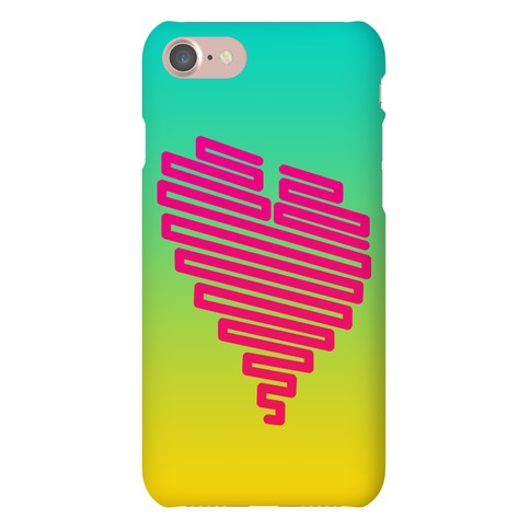 Neon Heart Phone Case