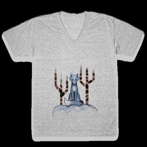 Blue Fox V-Neck Tee Shirt