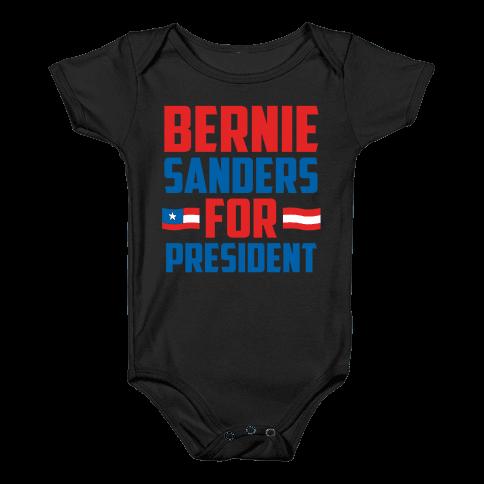 Bernie Sanders For President Baby Onesy