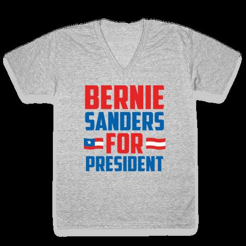 Bernie Sanders For President V-Neck Tee Shirt