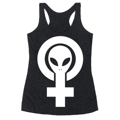 Alien Feminist Symbol Racerback Tank Top