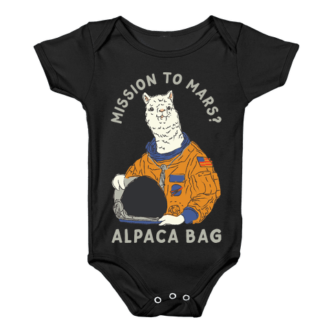Mission to Mars Alpaca Bag Baby Onesy