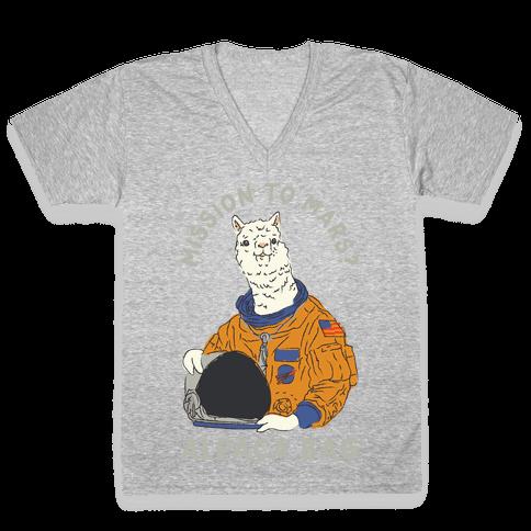 Mission to Mars Alpaca Bag V-Neck Tee Shirt