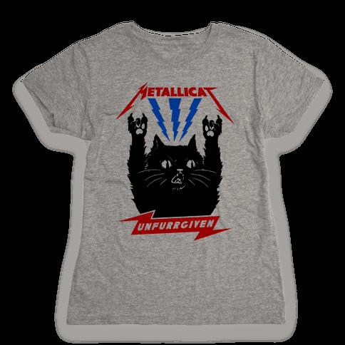 Metallicat Unfurrgiven Womens T-Shirt