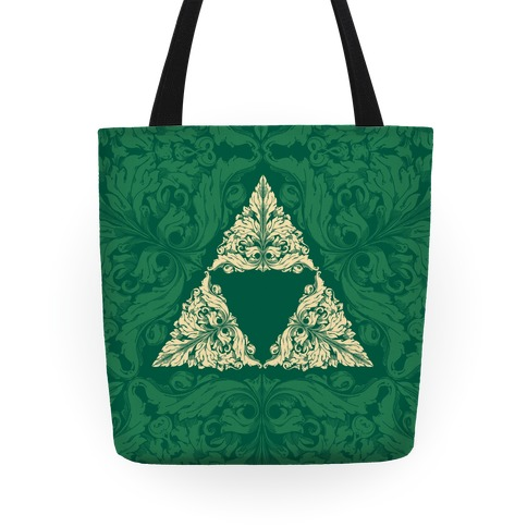 Floral Triforce Tote