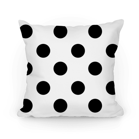 Big Polka Dot Pillow (black and white) Pillow
