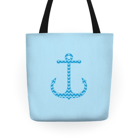 Chevron Anchor Tote (Blue) Tote