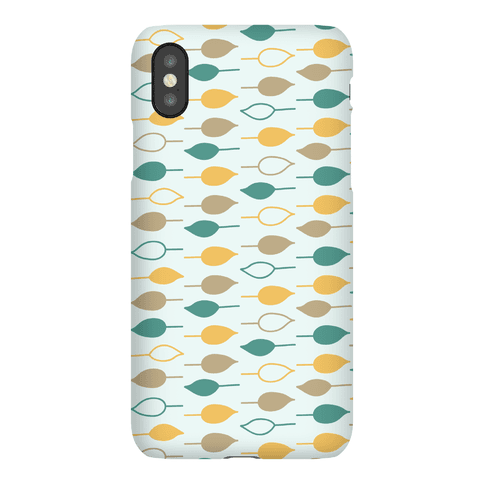 Leaf Pattern Case (Blue) Phone Case
