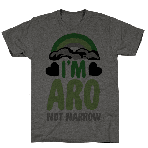 I'm Aro Not Narrow Mens T-Shirt