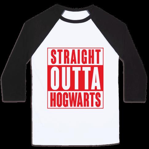 Straight Outta Hogwarts Baseball Tee