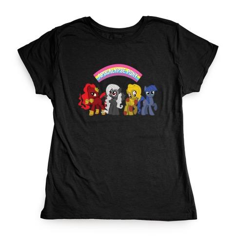 Apocalypse Pony Womens T-Shirt
