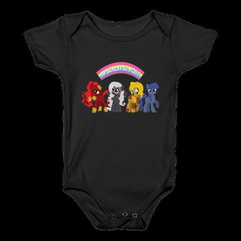 Apocalypse Pony Baby Onesy