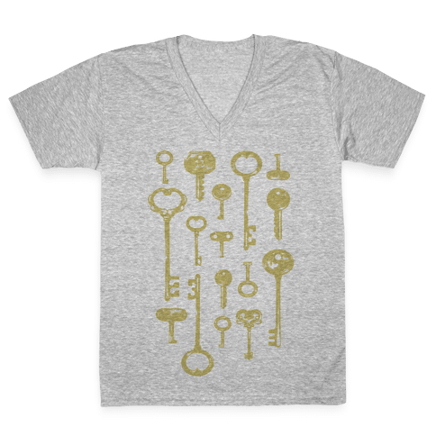 Keys V-Neck Tee Shirt