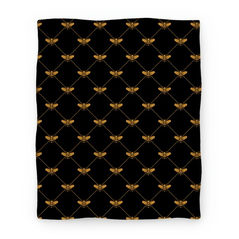 Regal Golden Honeybee Pattern Blanket