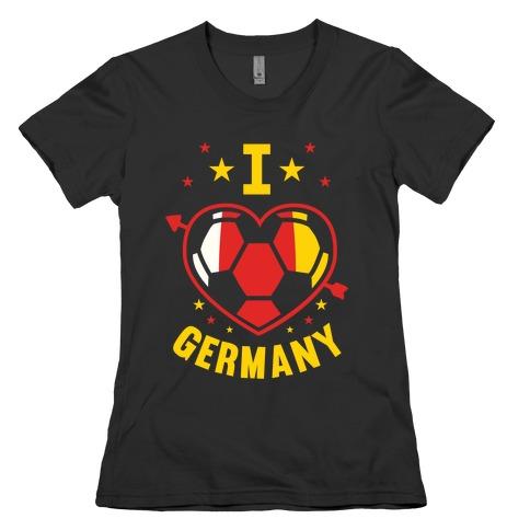 I Love Germany (Soccer) Womens T-Shirt