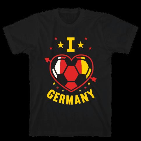 I Love Germany (Soccer) Mens T-Shirt